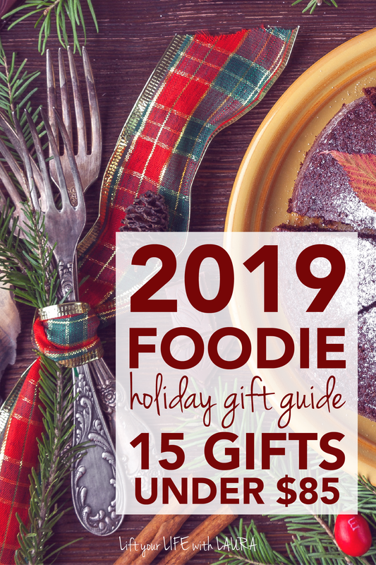 foodie gift ideas under $85. Click for 15 foodie gifts for 2019 holiday season.