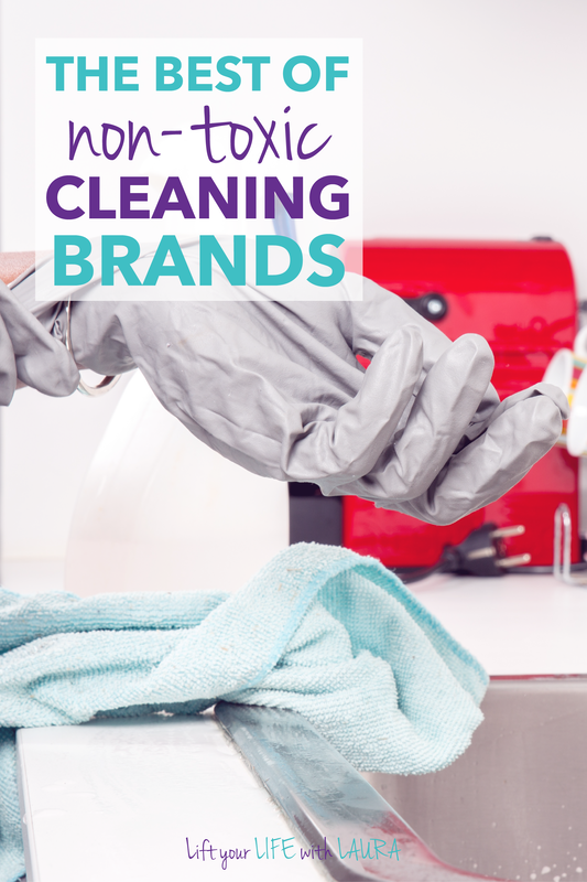 Great list of the best non toxic cleaning products brands.  Learn which natural cleaning products work.